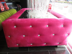"4171 TUFTED HOT PINK VELVET COFFEE TABLE WITH CRYSTALS • <a style=""font-size:0.8em;"" href=""http://www.flickr.com/photos/43749930@N04/6202119564/"" target=""_blank"">View on Flickr</a>"