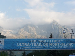 Mt. Blanc (I think!) from the start line