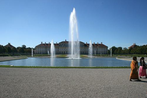 Fontänen und Neues Schloß Oberschleißheim