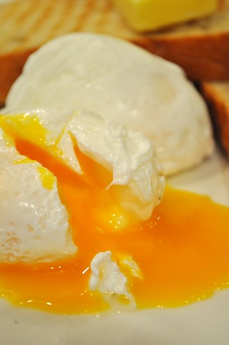 flowy poached egg