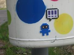 Street Art Hama Beads (lwordish2010) Tags: streetart liu sweden ninja linköping hamabeads linköpingsuniversitet