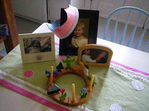 birthday table - Elise's 3rd birthday