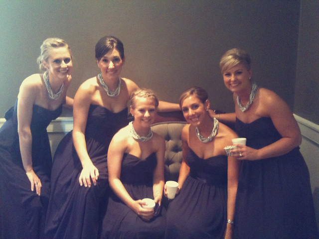 bridesmaids in bridal room