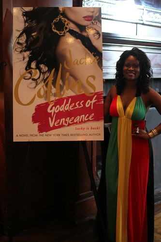 Abiola Abrams at Jackie Collins' Goddess of Vengeance Party