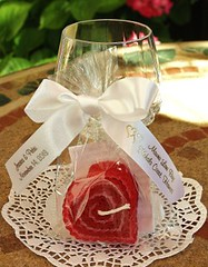 Heart shaped candle favors