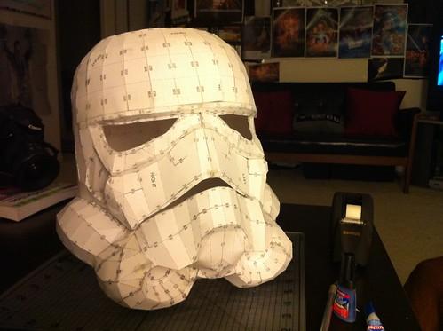 Stormtrooper Helmet Pepakura - Front Left