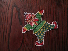 elf mini cross stitch