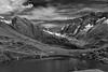 break @ guggisee . lötschental (Toni_V) Tags: leica bw monochrome landscape schweiz switzerland blackwhite europe suisse hiking rangefinder mountainlake bergsee wallis valais m9 randonnée 2011 lötschental langgletscher summiluxm 35mmf14asph fafleralp hollandiahütte lötschenlücke 35lux sattelhorn messsucher 110911 schinhorn ©toniv leicam9 anenhütte guggisee l1004002 anungletscher anungrat