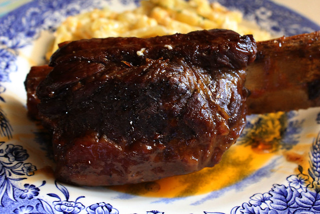 Oven BBQ Braised Short Ribs