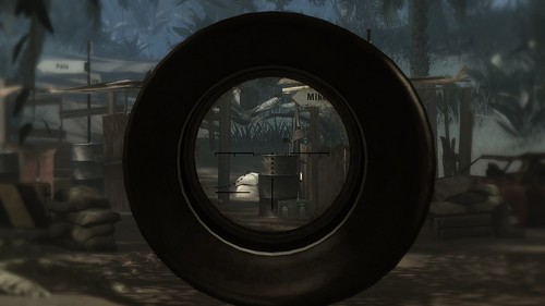 The view through the sniper rifle