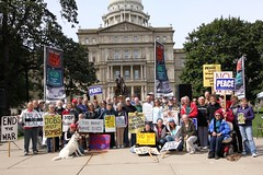 Lansing Peace Vigil 10th Anniversary - 16 Sept 2011 (Peace Education Center) Tags: afghanistan war peace iraq lansing vigil mpt usmilitary militarism pec glnawi peaceeducationcenter