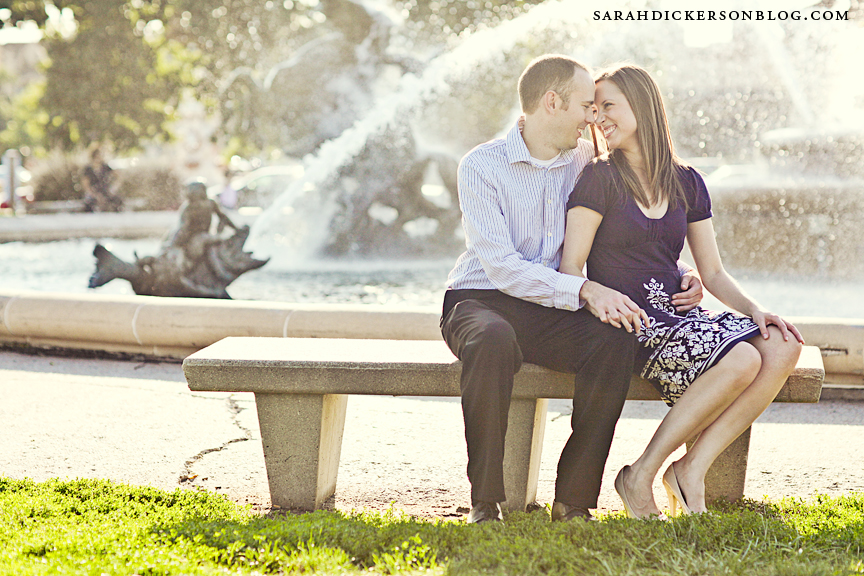 Country Club Plaza Kansas City engagement photographer