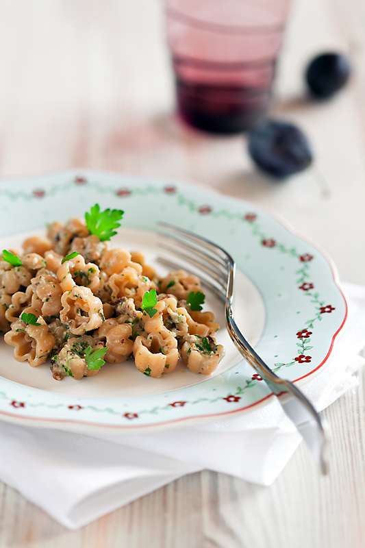 Pasta with Dried Plums and Walnuts