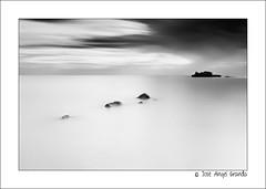 Still (Josean_) Tags: sea blackandwhite seascape blancoynegro marina landscape mar still asturias bn calma rocas