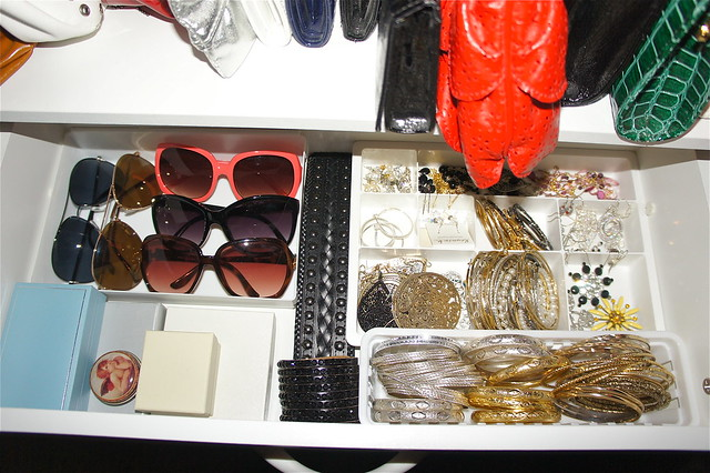 Drawer of jewelry