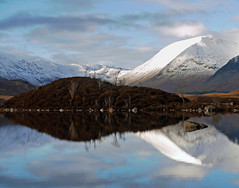 LANDSCAPE WITHIN A LANDSCAPE (kenny barker) Tags: trees winter mountain snow reflection water landscape scotland day panasonic g1 loch moor rannochmoor saariysqualitypictures pwwinter