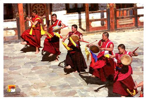 ps-明信片-不丹跳神舞練習-正面