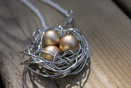 three gold eggs
