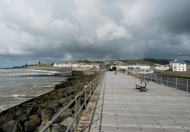 P1090743 - Rainbow over Aberystwyth