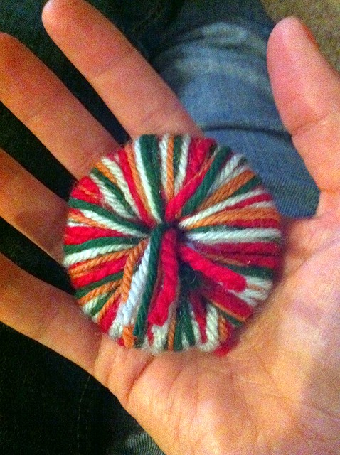 Pom Pom in Progress