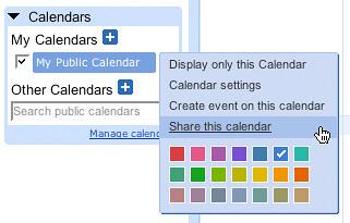 Sharing your Google calendar