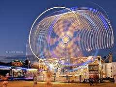 Funfair Ride (Helen Vercoe) Tags: longexposure light blur night southaustralia funfair carnivalride semaphorebeach dodgemcars flickraward flickrbronzeaward