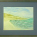 "Seascape by Charles Riley, Watercolor on Arches, 12"" X 14"", matted and framed $400"