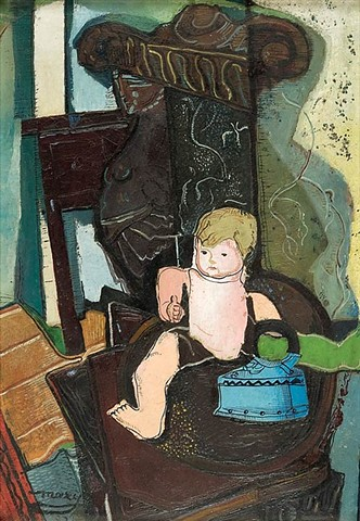 Maxy, M.H. (1895-1971) - 1926 Still Life with a Celluloid Doll and Iron