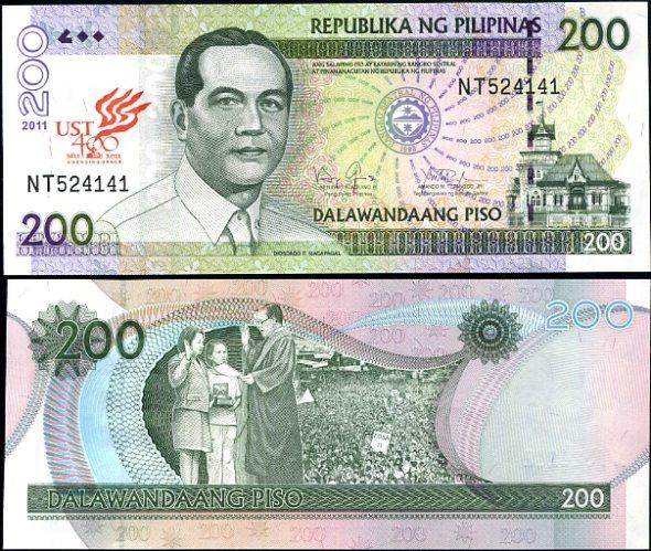 200 Piso Filipíny 2011, 400. výročie univerzity