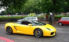 Bicolore (BenGPhotos) Tags: auto black london car yellow chelsea legends lamborghini supercar v10 gallardo 2011 bicolore lp5604