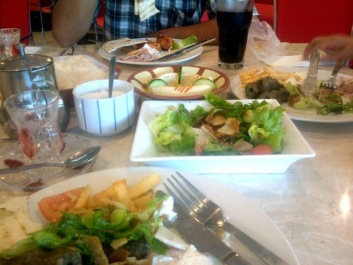 Healthy food at Tarbush Restaurant