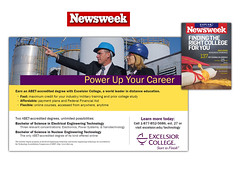 Newsweek print ad for Excelsior College