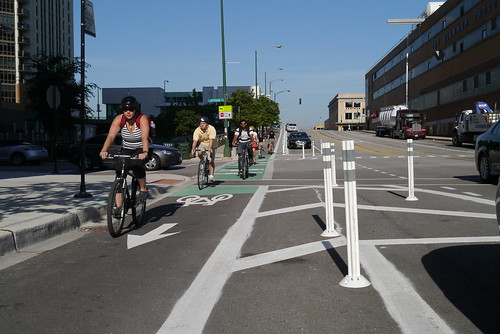 Kinzie Protected Bike Lane
