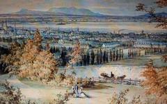 Montréal, vers 1854. Panorama depuis le mont Royal.
