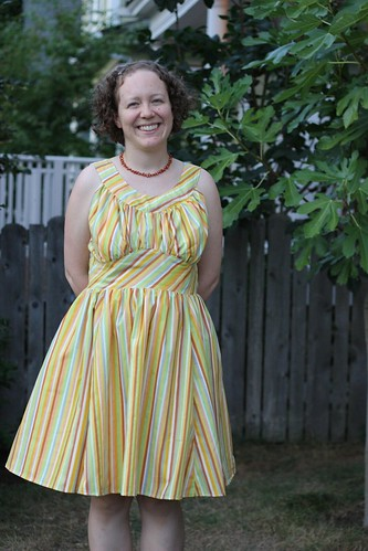 Fruit Stripe Chantilly Dress