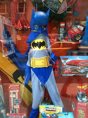 Batman (drumthwacket) Tags: reflection halloween window costume display manhattan batman uppereastside maryarnoldtoys