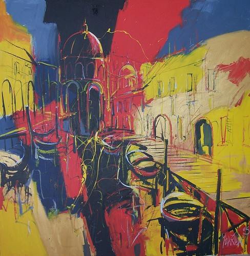 Venice in colour - Painting - Abstract Expressionism