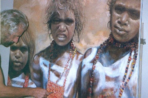 Aboriginals - Painting - Realism