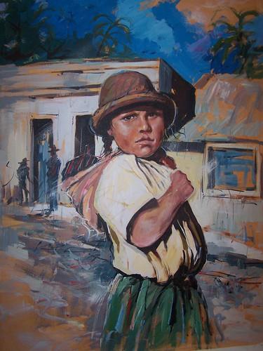 Chiquita en la Calle - Painting - Impressionism