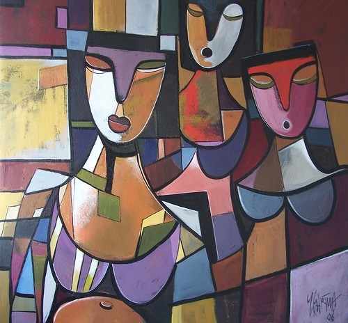 The Religious Ones - Painting - Cubism