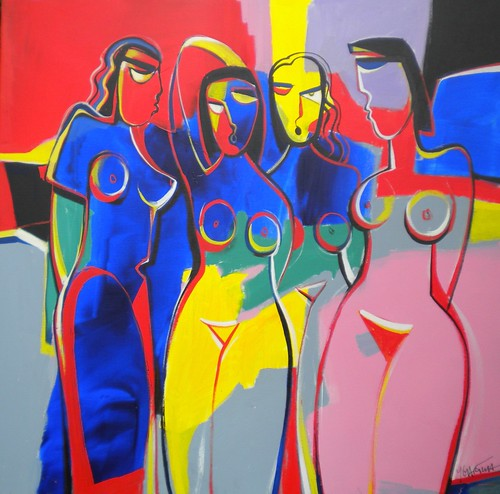 Les Pastelles - Painting - Modern Expressionism