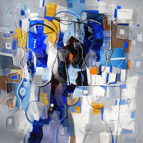 Amour Bleue - Painting - Cubism