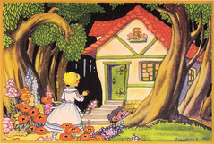 Cottage in the wood illustrated by Alexander Key (katinthecupboard) Tags: art woods reader cottage threebears vintagechildrensbooks childrens alexanderkey vintage illustrations vintagechildrensprimer vintagechildrenstextbooks vintagechildrensreaders vintagechildrensartbooks keyalexander