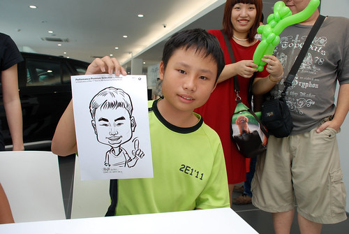 Caricature live sketching for Performance Premium Selection first year anniversary - day 3 - 18