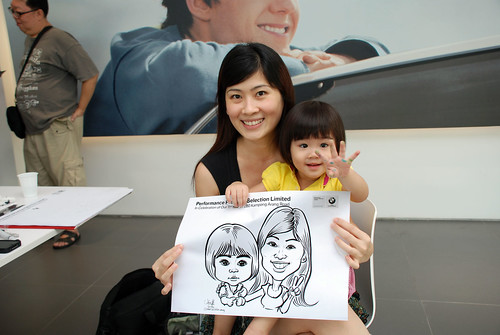 Caricature live sketching for Performance Premium Selection first year anniversary - day 3 - 16