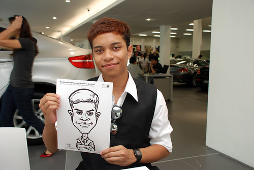 Caricature live sketching for Performance Premium Selection first year anniversary - day 4 - 25