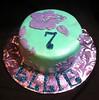 Hibiscus Smash Cake (Sweet Flair) Tags: birthday cake hibiscus luau hawaiian fondant smashcake