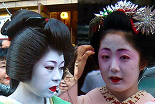 cómo distinguir entre una maiko y geisha: el pelo