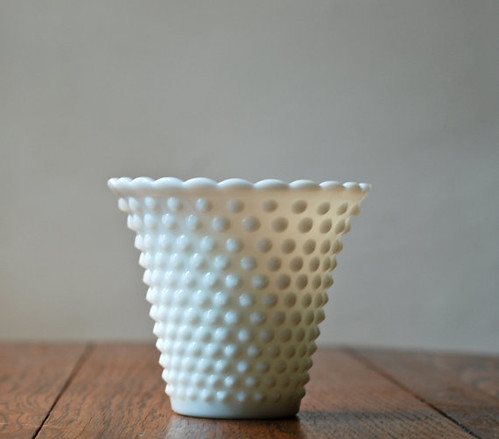 the Estate Sale: Hobnail Glass Vase