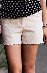 h&m wool scalloped shorts